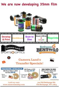 Camera Land now developing 35mm film
