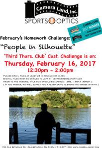 Camera Land's February Homework Challenge